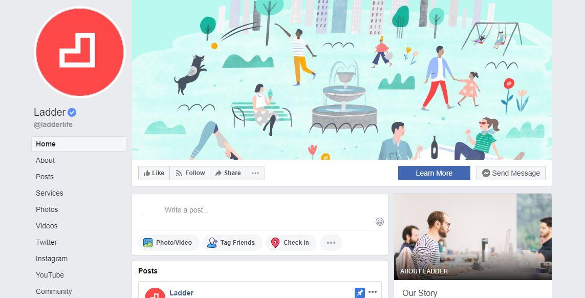 Ladder's Facebook page.