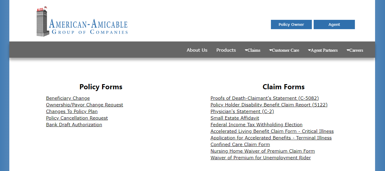 File claims and get any necessary documents directly from American Amicable's website.